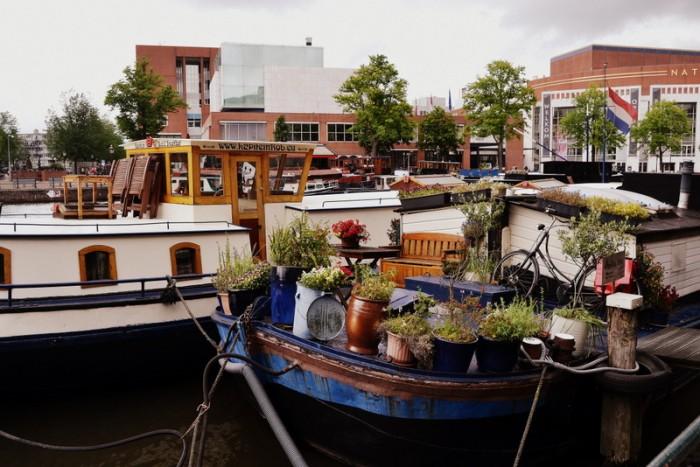 Les bateaux d'Amsterdam en balade photographique