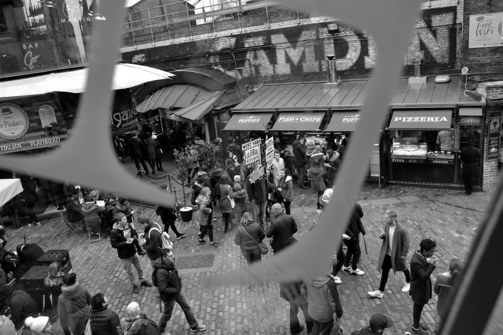 balade photographique noir et blanc Camden Town