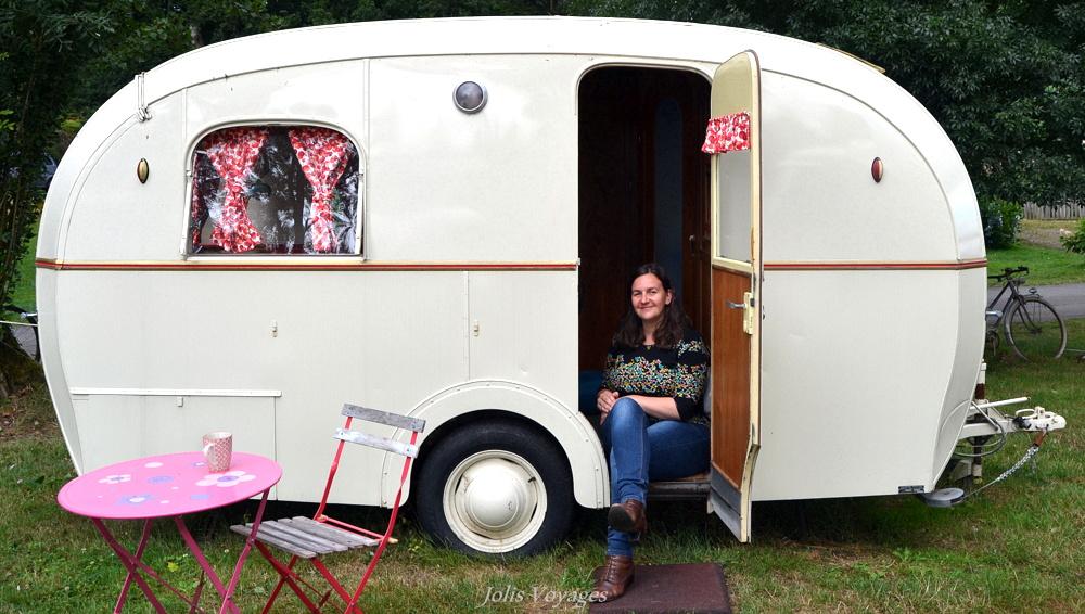 Dormir dans une caravane vintage
